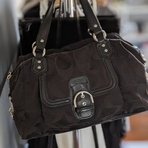 Coach Campbell Signature Satchel - Black
